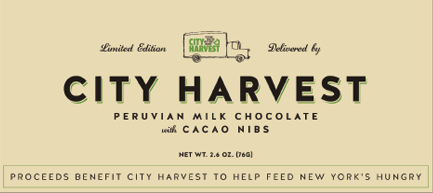 Limited Edition City Harvest Chocolate Bar