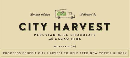 Limited Edition City Harvest Chocolate Bar