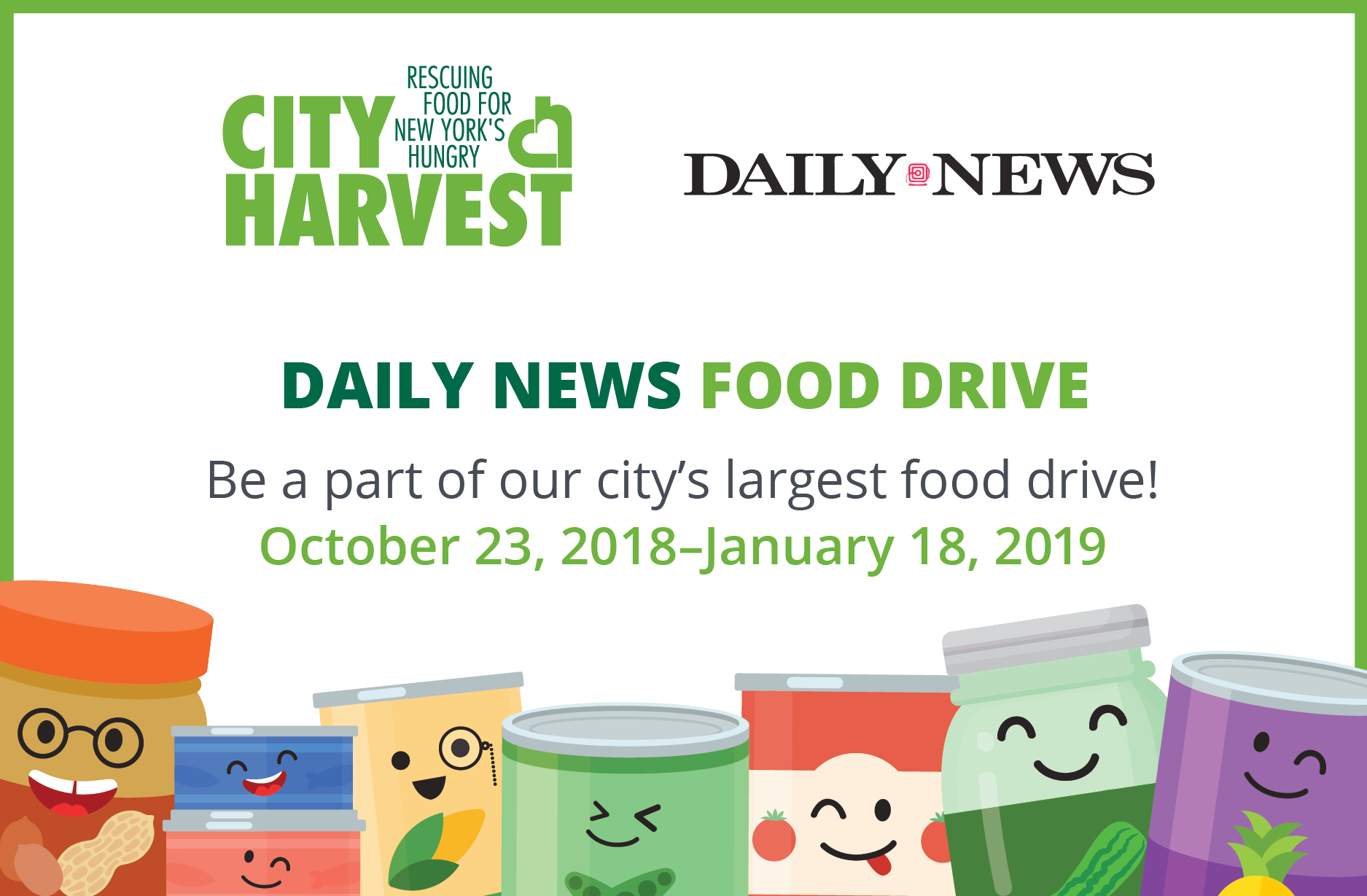 The 36th Annual Daily News Food Drive